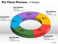 Strategic Management Pie Chart Process 5 Stages Consulting Diagram