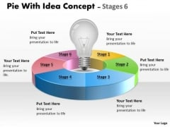 Strategic Management Pie With Idea Circular Concept Stages Sales Diagram