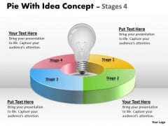 Strategic Management Pie With Idea Concept Diagram Stages Strategy Diagram