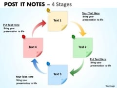 Strategic Management Post It Notes 4 Stages Consulting Diagram