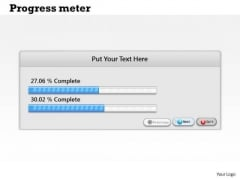 Strategic Management Progress Meter Dashboard Design Marketing Diagram
