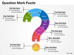 Strategic Management Question Mark Puzzle Marketing Diagram
