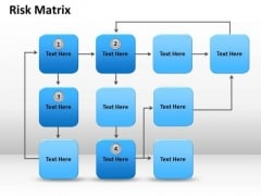 Strategic Management Risk Matrix Marketing Diagram