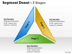 Strategic Management Segment Donut Stages Strategy Diagram