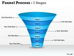 Strategic Management Seven Steps Business Funnel Diagram Business Diagram