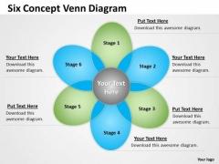 Strategic Management Six Concept Venn Diagram Sales Diagram