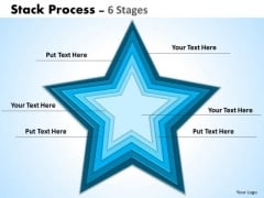 Strategic Management Stack Process 6 Business Diagram
