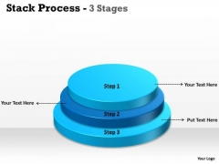 Strategic Management Stack Process With Step 3 Business Diagram