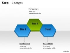 Strategic Management Step 3 Stages Sales Diagram