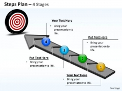Strategic Management Steps Plan 4 Stages Business Cycle Diagram