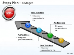 Strategic Management Steps Plan 4 Stages Style 4 Business Cycle Diagram