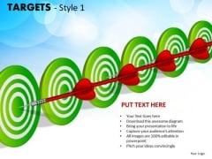 Strategic Management Targets Style 1 Sales Diagram