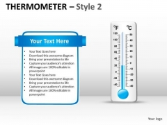 Strategic Management Thermometer Style 2 Consulting Diagram