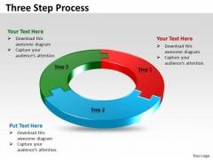 Strategic Management Three Step Circular Process Business Diagram