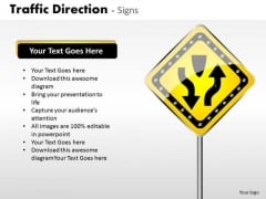 Strategic Management Traffic Direction Signs Business Diagram