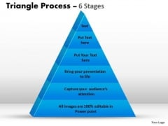Strategic Management Triangle Process 6 Stages For Sales Marketing Diagram