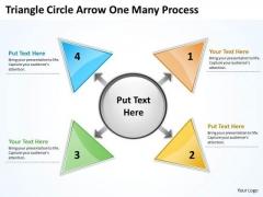 Strategic Management Triganle Circle Arrow One Many Process Marketing Diagram