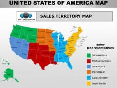 Usa Country PowerPoint Maps PowerPoint Templates - Usa country map