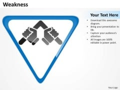 Strategic Management Weakness Business Diagram