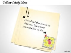 Strategic Management Yellow Sticky Note With Quotes Marketing Diagram