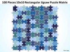 Strategy Diagram 100 Pieces 10x10 Rectangular Jigsaw Puzzle Matrix Business Diagram