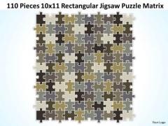 Strategy Diagram 110 Pieces 10x11 Rectangular Jigsaw Puzzle Matrix Sales Diagram
