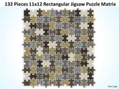 Strategy Diagram 132 Pieces 11x12 Rectangular Jigsaw Puzzle Matrix Business Diagram