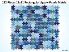 Strategy Diagram 132 Pieces 12x11 Rectangular Jigsaw Puzzle Matrix Business Diagram