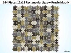 Strategy Diagram 144 Pieces 12x12 Rectangular Jigsaw Puzzle Matrix Strategic Management