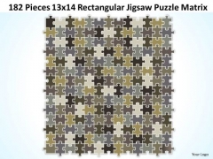 Strategy Diagram 182 Pieces 13x14 Rectangular Jigsaw Puzzle Matrix Business Diagram