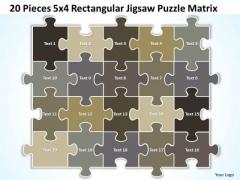 Strategy Diagram 20 Pieces 5x4 Rectangular Jigsaw Puzzle Matrix Sales Diagram