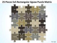 Strategy Diagram 25 Pieces 5x5 Rectangular Jigsaw Puzzle Matrix Business Diagram