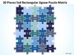 Strategy Diagram 30 Pieces 5x6 Rectangular Jigsaw Puzzle Matrix Business Framework Model