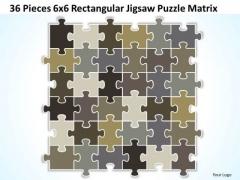 Strategy Diagram 36 Pieces 6x6 Rectangular Jigsaw Puzzle Matrix Business Diagram
