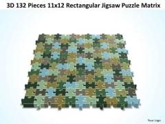 Strategy Diagram 3d 132 Pieces 11x12 Rectangular Jigsaw Puzzle Matrix Business Framework Model