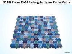 Strategy Diagram 3d 182 Pieces 13x14 Rectangular Jigsaw Puzzle Matrix