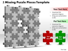 Strategy Diagram 3d 6x6 Missing Puzzle Piece Sales Diagram