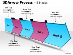 Strategy Diagram 3d Arrow Process 5 Stages Sales Diagram