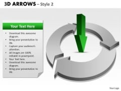 Strategy Diagram 3d Arrows Style 2 Mba Models And Frameworks