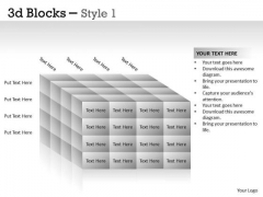 Strategy Diagram 3d Blocks Style Mba Models And Frameworks