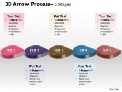 Strategy Diagram 3d Circle Arrow 5 Stages 4 Business Diagram