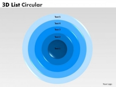 Strategy Diagram 3d Circular Business Process With 5 Stages Marketing Diagram