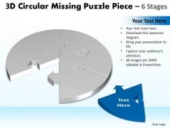 Strategy Diagram 3d Circular Missing Puzzle Piece 6 Stages 2 Marketing Diagram
