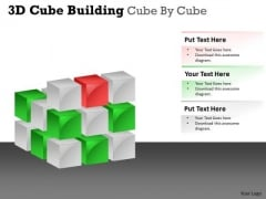 Strategy Diagram 3d Cube Building Cube By Cube Consulting Diagram