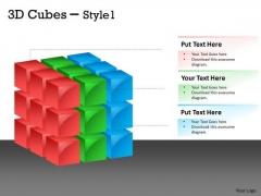 Strategy Diagram 3d Cubes Style 1 Cubes Design Business Cycle Diagram