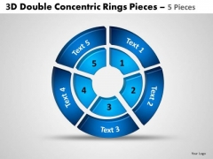 Strategy Diagram 3d Double Concentric Rings Pieces 3 Sales Diagram