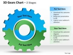 Strategy Diagram 3d Gears Chart 2 Stages 2 Consulting Diagram
