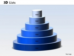 Strategy Diagram 3d List Circular Diagram With 6 Stages Consulting Diagram
