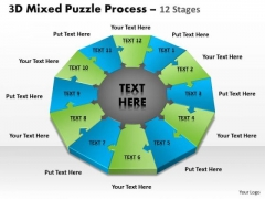 Strategy Diagram 3d Mixed Puzzle Process 12 Strategic Management