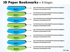 Strategy Diagram 3d Paper Bookmarks 8 Stages Marketing Diagram